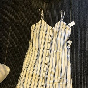 Forever 21 Blue striped cotton dress